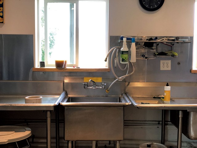 The commercial kitchen at the Hub on the Hill - JORDAN BARR