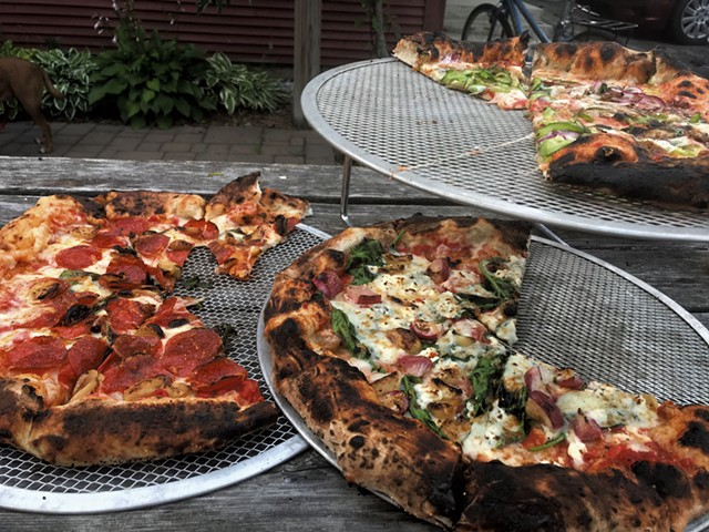 Pizza at Dogwood Bread in Wadhams, N.Y. - SALLY POLLAK