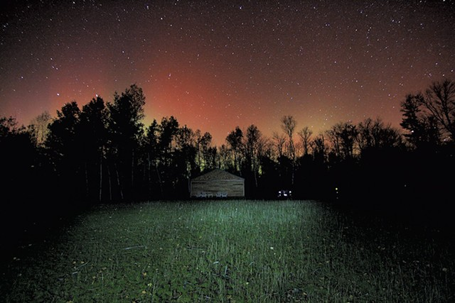 A 2013 photo of the Adirondack Sky Center observatory under the northern lights - PHOTOS COURTESY OF THE ADIRONDACK SKY CENTER