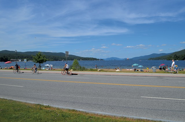 Million Dollar Beach at the south end of Lake George