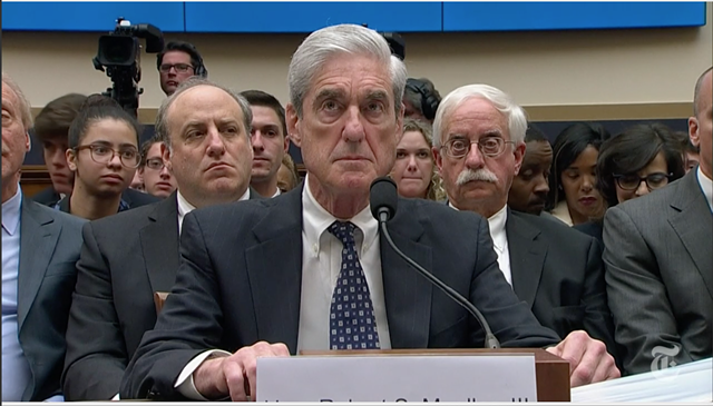 Former special counsel Robert Mueller - SCREENSHOT