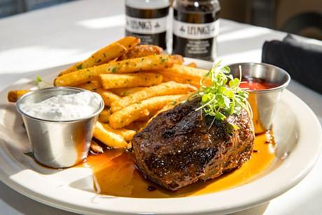 Steak frites at Leunig's Bistro & Café - JAMES BUCK
