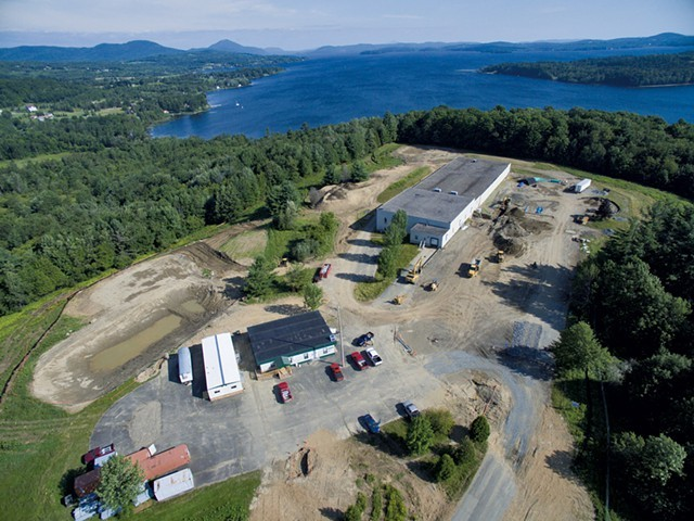 AnC Bio Vermont, an EB-5-funded project, under construction in Newport - FILE: DON WHIPPLE