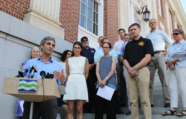 Mayor Miro Weinberger on Monday - COURTNEY LAMDIN