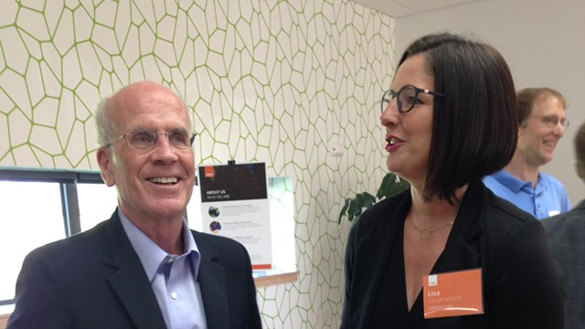 Logic Supply's Lisa Groeneveld and Rep. Peter Welch (D-Vt.) - MOLLY WALSH