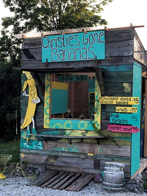 The roadside stand at Christie's Gone Bananas - JORDAN BARRY
