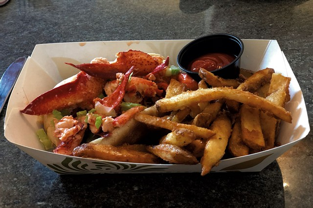 Lobster roll and French fries at Blue Paddle Bistro - JORDAN BARRY