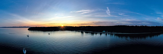 Sunset over Lake Champlain - JAMES BUCK