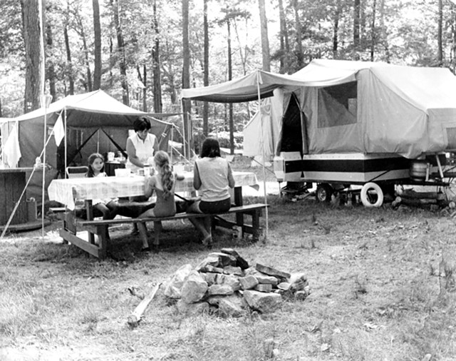 A family picnic at North Beach Campground, circa 1960-70 - COURTESY OF  BURLINGTON PARKS, RECREATION & WATERFRONT DEPARTMENT