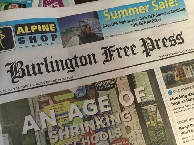 A recent  Burlington Free Press - FILE