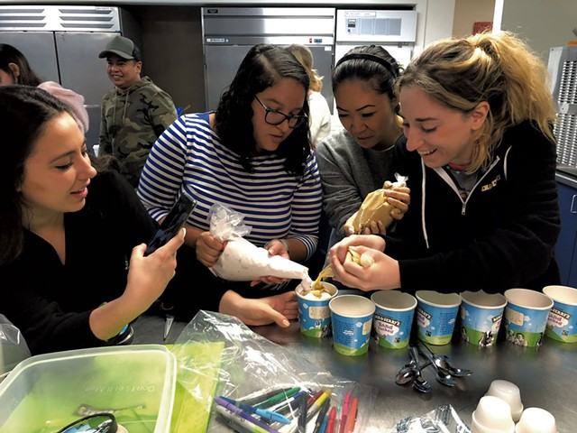 Influencers making Ben & Jerry's flavors during Inside Scoop - COURTESY OF LINDSAY BUMPS