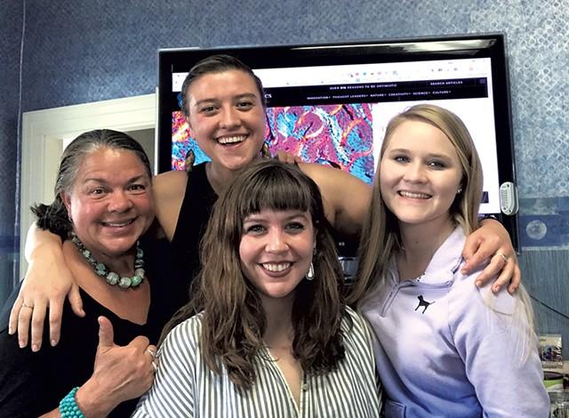 From left: Lynda Ulrich, Liesl Ulrich-Verderber, Samantha Burns and Abi Fugere - COURTESY PHOTO