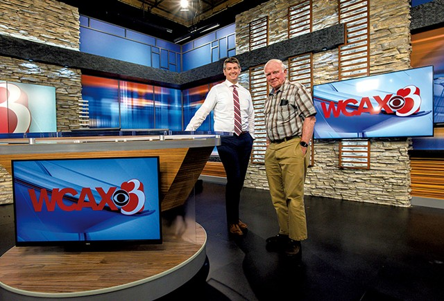Jay Barton and Peter Martin at WCAX-TV - GLENN RUSSELL
