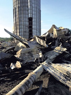 After the fire at Boucher Family Farm - COURTESY OF DAWN BOUCHER