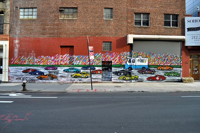 Previous mural by Mitchell Schorr - COURTESY OF ART ON BOARD