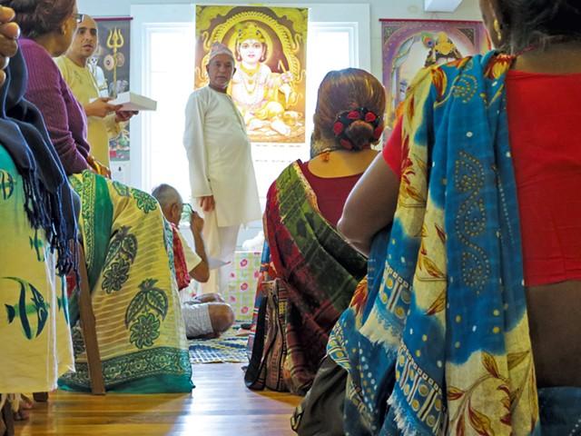 A Hindu gathering last week - MATTHEW THORSEN