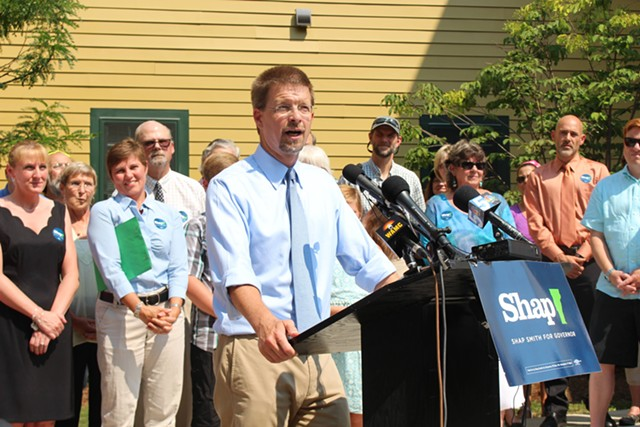 House Speaker Shap Smith declares his candidacy for governor of Vermont. - PAUL HEINTZ
