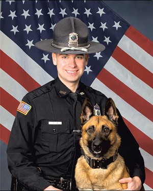 Officer Joshua Lillis and K-9 Ozzy - COURTESY OF NEWPORT POLICE DEPARTMENT