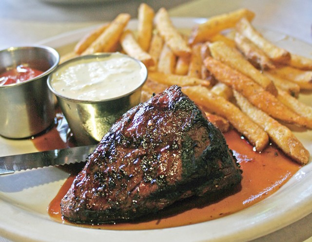 Steak frites at Leunig's Bistro & Café - JOHN JAMES