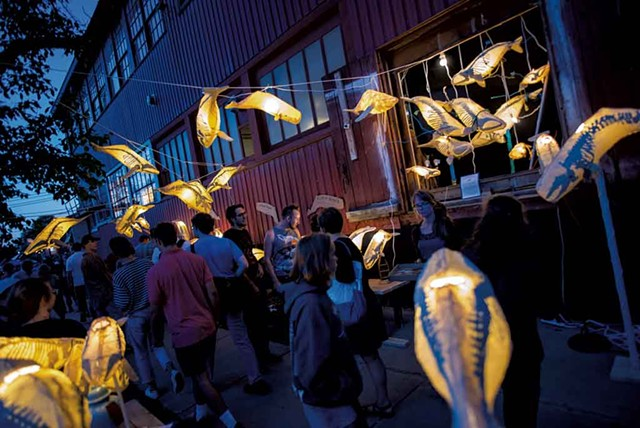 Kristian Brevik whale lanterns at the South End Art Hop - COURTESY OF JOSH BROWN