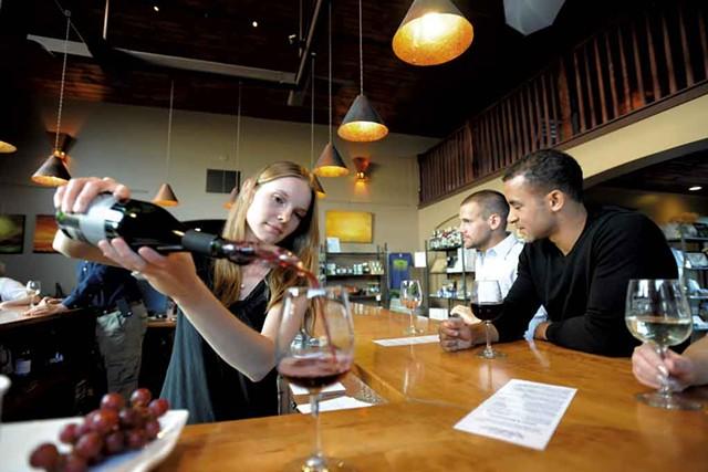 Wine tasting at the vineyard - COURTESY OF SHELBURNE VINEYARD