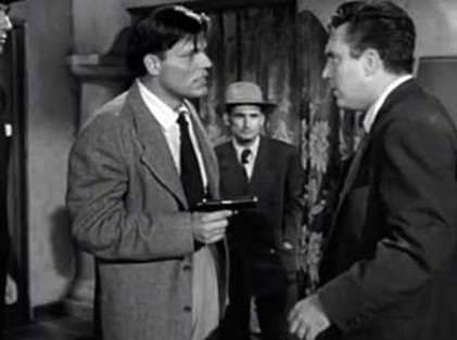 Neville Brand (L), as the gun-crazy Chester, steals most of the scenes he's in. - CARDINAL PICTURES / PUBLIC DOMAIN