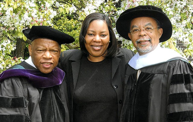 Rep. John Lewis, Wanda and Henry Louis Gates, Jr. - COURTESY OF WANDA HEADING-GRANT