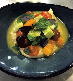 Heirloom Tomatoes With Shiitake-White Bean Purée - COURTESY OF PHANTOM