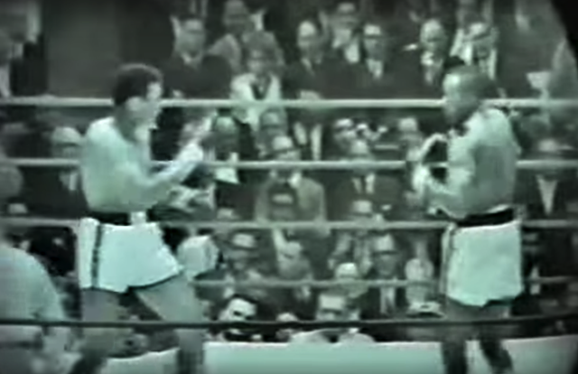 Cassius Clay and Sonny Liston square off in Round One of their first fight.