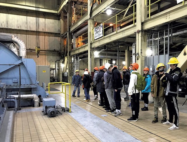 Students tour the McNeil plant - COURTESY OF DOV STUCKER