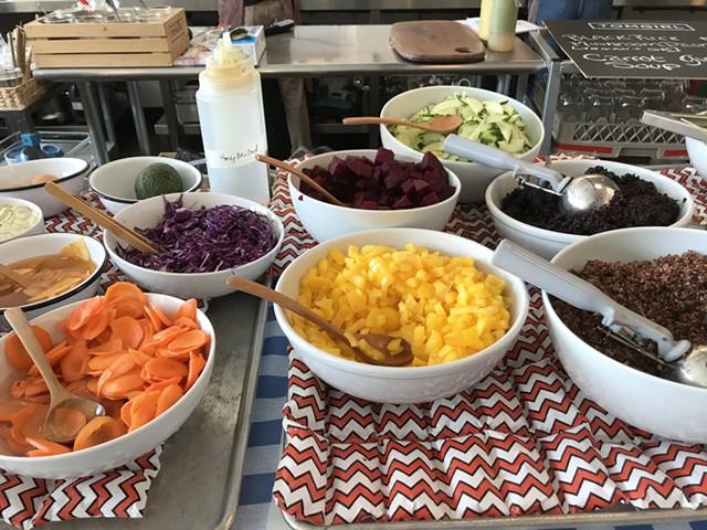 Salad bar at Tomgirl Kitchen - SALLY POLLAK