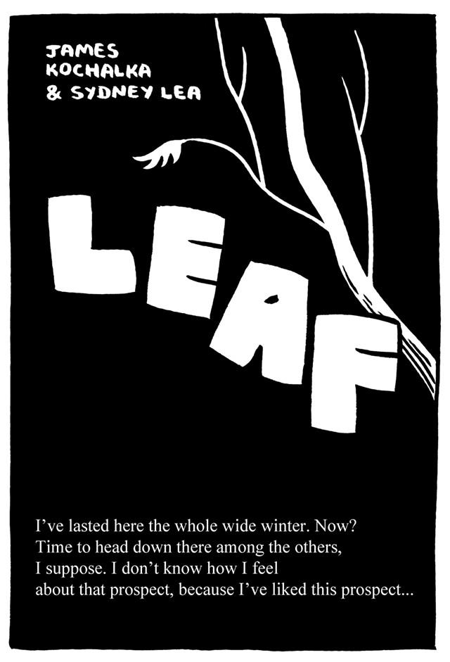 """LEAF"" - COURTESY OF JAMES KOCHALKA"