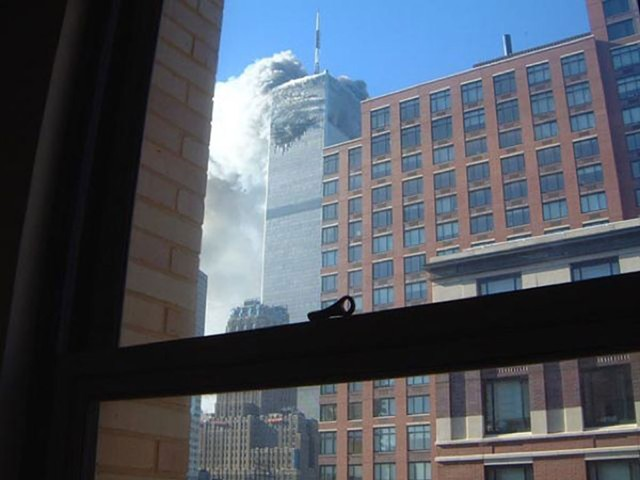 WINDOW ON THE WORLDThe view from Stuyvesant High School on the morning the World Trade Center was attacked.