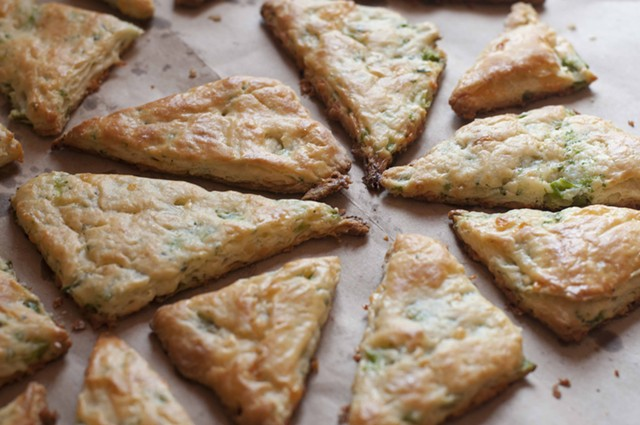 Cheddar + broccoli + some stuff in your pantry scones - HANNAH PALMER EGAN