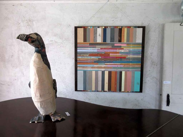"""""""Great Auk"""" by Gail Boyajian (left), and """"Flow Thru"""" by Duncan Johnson - AMY LILLY"""