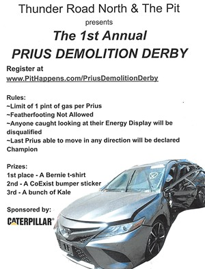 Prius Demolition Derby submitted by Al Dworshak