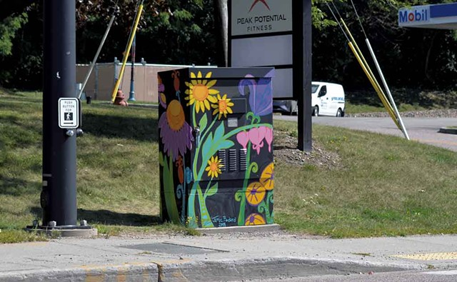 Painted utility box - KEN PICARD