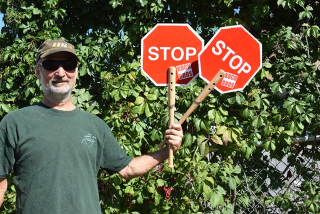 Steve Norman started the group Crossing Guards for Bernie to support Sanders' presidential campaign. - TERRI HALLENBECK