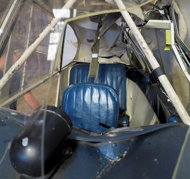 The crashed plane in a barn on Savage Island - FILE: MATTHEW THORSEN