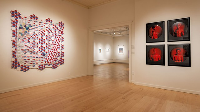 """""""The Tyranny of Mirrors"""" by Sanford Biggers (left) and """"From Here I Saw What Happened and I Cried"""" by Carrie Mae Weems - COURTESY OF PAUL ROGERS PHOTOGRAPHY"""