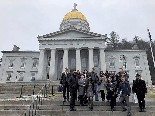 A Ukrainian delegation visiting Vermont in April - COURTESY OF JAMES GUNGER
