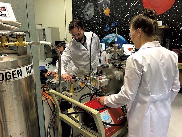 Bechmark Space Systems team testing equipment - COURTESY OF BENCHMARK SPACE SYSTEMS