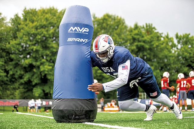 Mobile Virtual Player robotic tackling dummy - COURTESY OF MOBILE VIRTUAL PLAYER