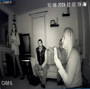 Video camera footage from a recent investigation - COURTESY F BETTY MILLER