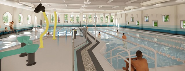 Rendering of new pools - GREATER BURLINGTON YMCA