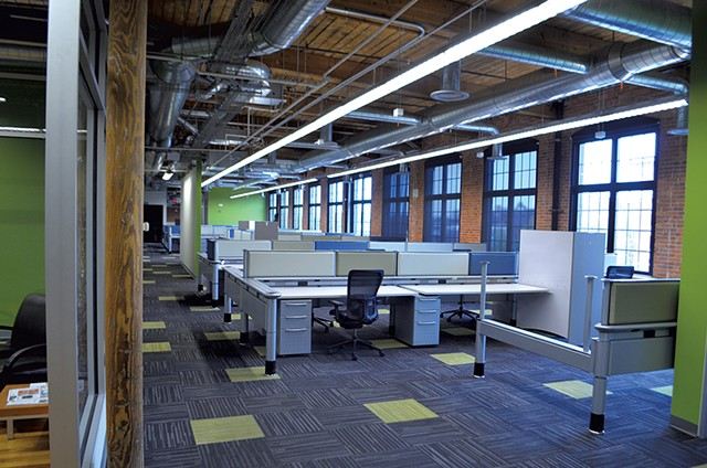 The Mi9 offices in the Champlain Mill on Monday - KEVIN MCCALLUM