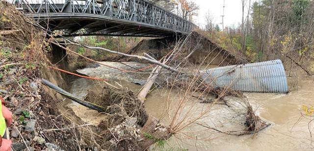 The bridge over Muddy Brook - COURTESY OF SOUTH BURLINGTON PUBLIC WORKS