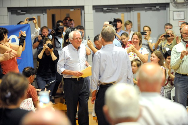 Sen. Bernie Sanders last month in New Hampshire - FILE: JAMIE GEMMITI