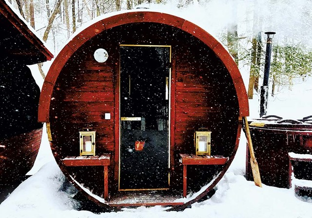 Exterior of a wood-fired sauna - COURTESY PHOTO