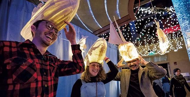 Festivalgoers at the Illuminated Waterfront - COURTESY OF KYLE TANSLEY
